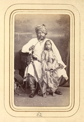 BALASINOR: Jorav'var Khan, Nawab of Balasinor (1827-1882), with his daughter.